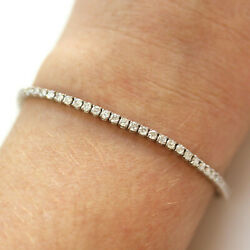3 Ctw Natural Real Diamond G-h Si Solid 14k White Gold 2 Mm Tennis Bracelet 6-8