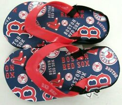 MLB Boston Red Sox Youth Sandals Flip Flops with Strap Large 9-10 $12.99