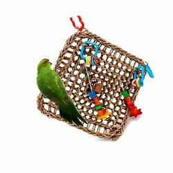 Borangs Bird Foraging Toys Parrot Seagrass Activity Wall Birds Toy for Cockat...