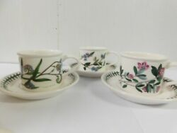 Portmeirion Flat Cup And Saucer Speedwell, Rhododendron And Forget Me Not
