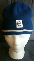 Vintage Mlb Chicago Cubs Old Style Beanie Winter Ski Hat One Size Fits Most