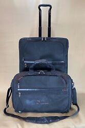 Used Tumi 24 Upright Wheeled Exp Short Trip Suitcase 22024d4 And 19andrdquo Exp Brief