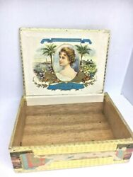 Vintage Wooden Cigar Boxes 3.5x5x1.5 Made Germany Gran Fabrica Be Cigarros