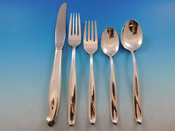 Silver Sculpture By Reed And Barton Sterling Silver Flatware Set Service 36 Pcs
