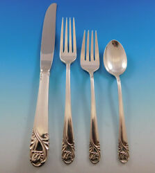Spring Glory By International Sterling Silver Flatware Service For 12 Set 48 Pcs