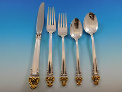 Golden Crown By Reed And Barton Silverplate Flatware Set For 12 Service 68 Pcs