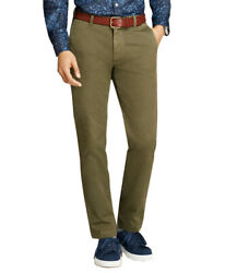 Brooks Brothers Men's Garment-dyed Stretch Chinos, Olive 38x32 5232-9