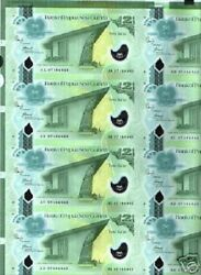 Papua New Guinea 2 Kina 2007-2010 Polymer Uncut Complete Sheet Of 35 Pcs Note