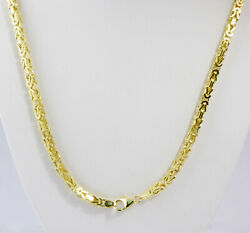 40.70 Gm 14k Solid Gold Yellow Menand039s Womenand039s Byzantine Chain Necklace 20 3.5mm