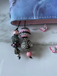 Traveler#x27;s notebook Journal Planner Beaded book thong bookmark charms