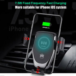 4hours Fully-charged Qi Fast Wireless Charging Car Mount Air Vent Phone Holder