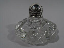 Inkwell - 14515 - Antique Art Nouveau Inkpot - American Sterling Silver