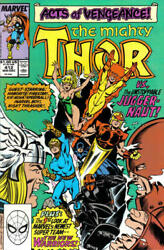 Mighty Thor 412 1st Appr. Of New Warriors Nm 9.4 Or Better And Juggernaut