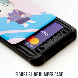 Bts Figure- Phone Cover With Slide Card Slot For Iphone/ Galaxy Note 10