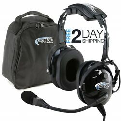 Rugged Air Ra200 General Aviation Pilot Headset With Noise Reduction Ga Dual...