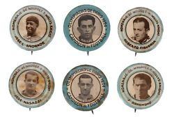 Lot Of 6 1924 Olympic Pinbacks By Willys-knight Automobiles Nasazziandrade +