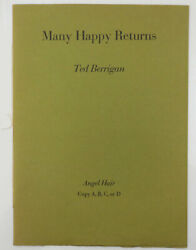 Ted Berrigan / Many Happy Returns To Dick Gallup Rare Signed Edition 1st Ed 1967