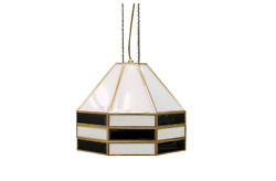 1of2 Rare Glass And Brass Pendant By Carl Zalloni For Cazal 60s Lampe 60s Lamp