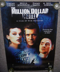 The Million Dollar Hotel Original Movie Poster Autographed Single-sided 27x40