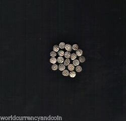 India Indian State 17 - 18 Century Silver Fanam Ancient Coin Lot X 100 Pcs Money