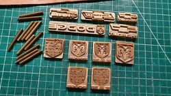 Set Of 11 Embossing Logo Cars Cliche Stampsstamping On Leathercardboard Plasti
