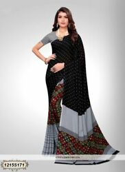 Multi Color Printed Bollywood Designer Party Wear Indian Saree Sari 1235
