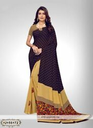 Multi Color Printed Bollywood Designer Party Wear Indian Saree Sari 1236