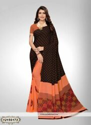 Multi Color Printed Bollywood Designer Party Wear Indian Saree Sari 1237