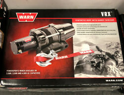 Warn Vrx 25-s Winch 2500 Lb 50and039 Of 3/16 Synthetic Rope Atv Utv Vrx25-s 101020