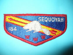 Oa Sequoyah Lodge 184,s1a,1960s Beaver Flap,ger,w Yel /sash,council,tennessee,tn