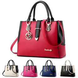 Women PU Leather Handbag Shoulder Messenger Satchel Tote Purse Crossbody Bag $23.90
