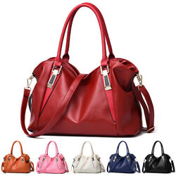 Women Soft Leather Shoulder Handbag Crossbody Bag Hobo Tote Messenger Satchel $20.90