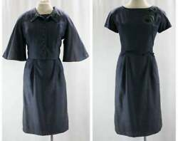 Size 10 Special Blue Dress And Jacket - Especially Chic 1950s Summer Suit - Denim