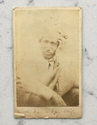 Antique Little Six Cdv Native American Photograph Sioux Chief Uprising Upton