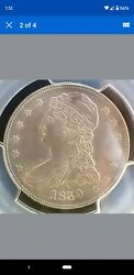 1839-o Capped Bust Half Dollar - Pcgs Au/slider Uncirculated Beautiful And Rare