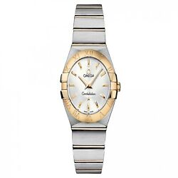 New Omega Constellation Ss And Yellow Gold Quartz 27mm Watch 123.20.27.60.02.002