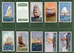 Tobacco Cigarette Cards Set Ship Series 1934 By Carroll`s