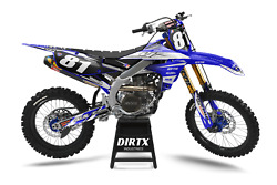 New Dirtx Industries Factory Yamaha Complete Graphics Kit Yz Yzf 85 125 250 450