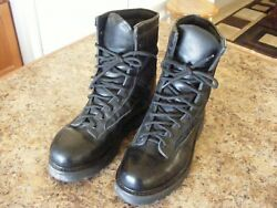 BLACK LEATHER COMBATJUMP BOOTS