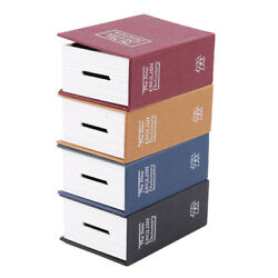 Hidden Lock-up Money Coin Jewelry Storage Box Hollow Dictionary Book N3