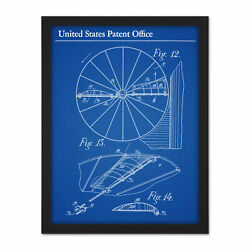 Losse Aerial Machine Airplane 1911 Patent Plan Framed Wall Art Print 18x24 In