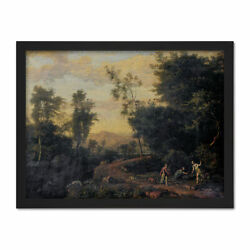 Abraham Genoels Landscape Diana Hunting Painting Framed Wall Art Print 18x24 In