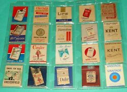 140 Old Cigarette Company Matchbooks From Us Canada And Uk Chesterfield Kent Landm +