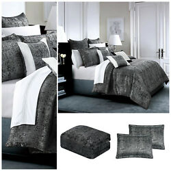 3 Piece Jacquard Bedspread Quilted Bed Throw With Pillow Shams Double King Size