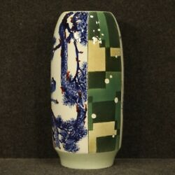 Chinese Vase Furniture Object Oriental In Painted Ceramic Antique Style Flowers