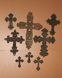 Deliverance Cast Iron Wall Cross Collection Bundle of 8 crosses $75.80