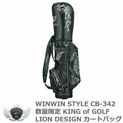 Winwin Style Win-Win King Of Golf Lion Design Black Limited Quantity Cart Bag