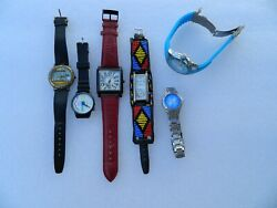 Lot Of Wristwatches Guess Fossil Warner Bros. Tokidoki For Parts Watches