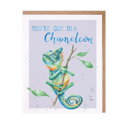 Wrendale Designs Greeting Card ONE IN A CHAMELEON WD C APAC016