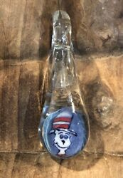 Cat In The Hat Double Sided Charm Hans Blown Glass Drop Pendant